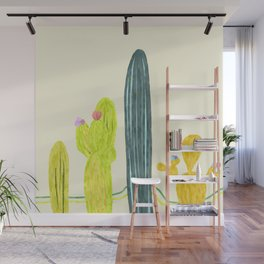 Cactus friends Wall Mural