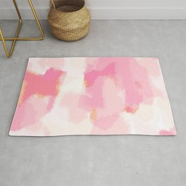 Adonia - blush pink abstract art Rug