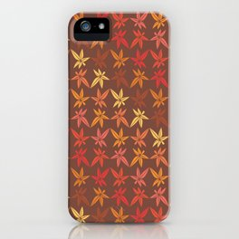 Warm Fall Leaves Pattern iPhone Case