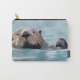 Swimming Otter Carry-All Pouch