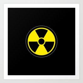 radioactive symbol Art Print