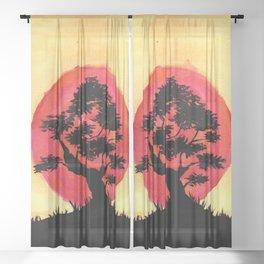Bonsai Sunset Sheer Curtain