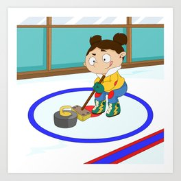Winter Sports: Curling Art Print