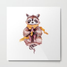 raccoon meditates (male) Metal Print