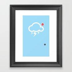 SocialCloud Framed Art Print