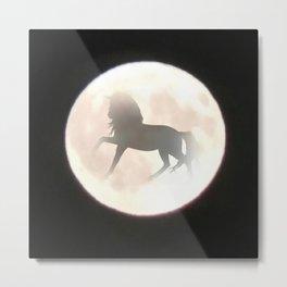 Unicorn Moon Metal Print