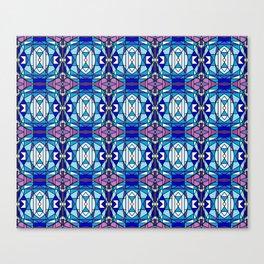 Blue and Purple Gems Canvas Print