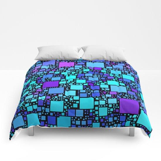 Post It Blue Comforters