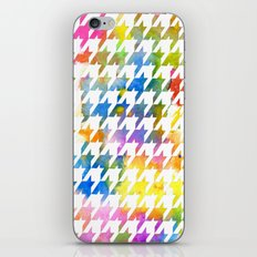 Houndstooth multi color watercolor iPhone & iPod Skin