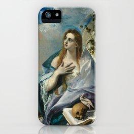 "El Greco (Domenikos Theotokopoulos) ""The Penitent Magdalene"" iPhone Case"