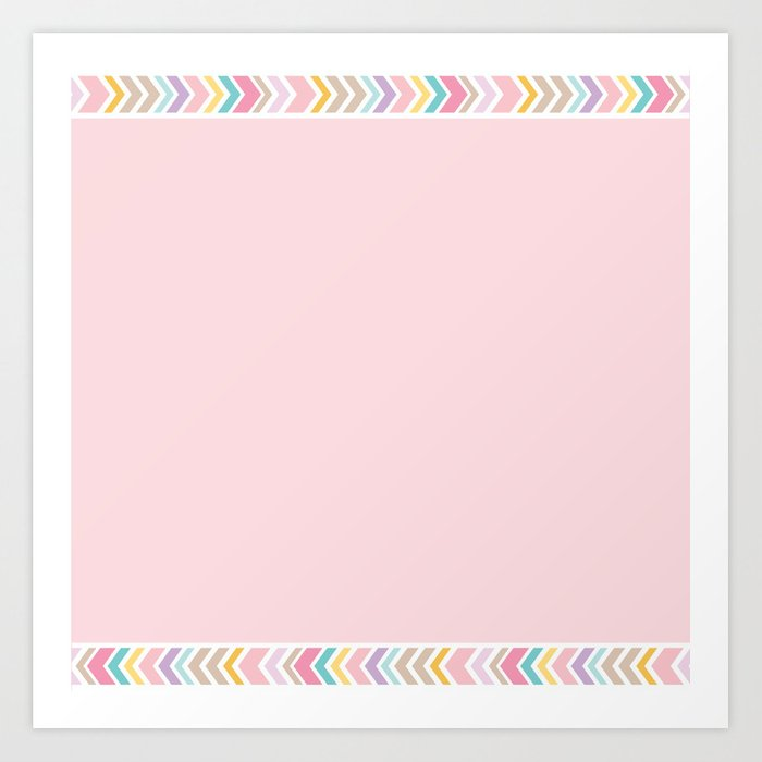 Bohemian Rose Quartz Pastels Pink Border Graphic Design