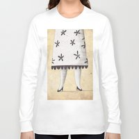lady Long Sleeve T-shirts featuring Lady by Zuriñe Aguirre Illustration