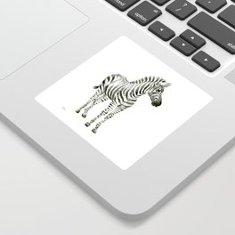 Zebra Watercolor Baby Animals Sticker