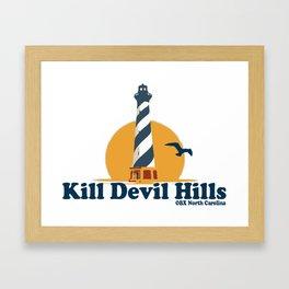 Kill Devil Hills - North Carolina. Framed Art Print