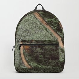 Tropical Amazon Rainforest Textured Trees Aerial Landscape Photo Backpack