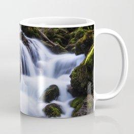 Magical waterfall in gorge Hell Coffee Mug