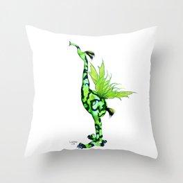 Fantasy Bird Gobi Throw Pillow