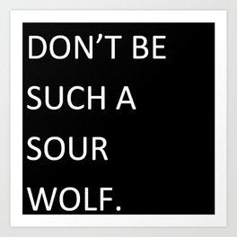 Sour Wolf - Teen Wolf Art Print