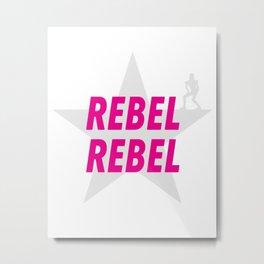 Grey star #REBEL REBEL Metal Print