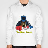elmo Hoodies featuring Too Many Cookies by Shawn Hall Design