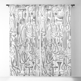 Medical Condition B&W Sheer Curtain