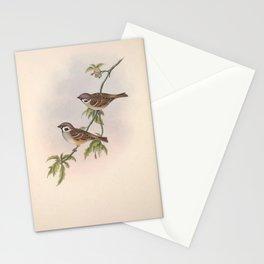 033 Eurasian Tree Sparrow passer montanus4 Stationery Cards