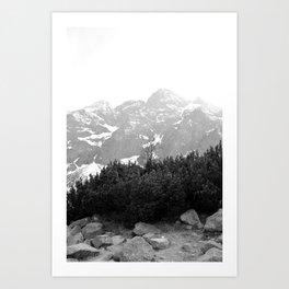 Tatry in Black and White Art Print