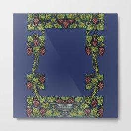 wine floral frame 2 Metal Print