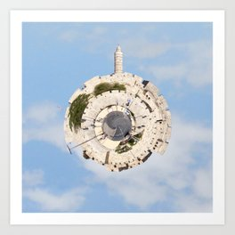 """Worlds in Jerusalem"": Old City Art Print"