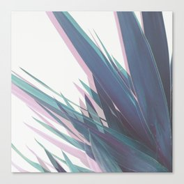 Holographic Leaves II Canvas Print