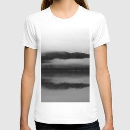Black and White Alaska Photography, Enchanted Isle T-shirt