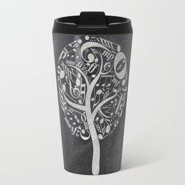 Music tree on chalkboard Travel Mug