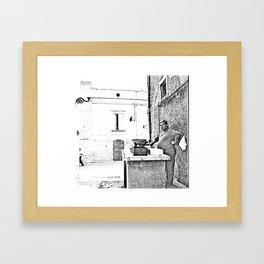Vulture: fish vendor Framed Art Print