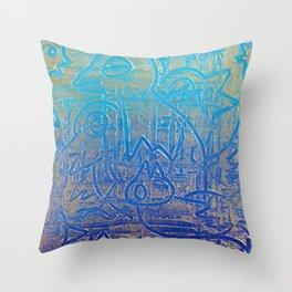 Birds of Blue Throw Pillow