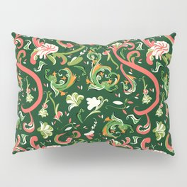 Swirly Trendy_Green Pillow Sham