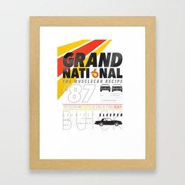 Grand National posters Framed Art Print