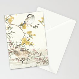 Birds and flowers - Japanese inspired watercolour Stationery Cards