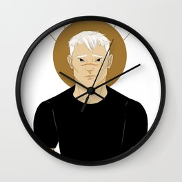 shiro | white Wall Clock