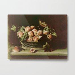 Louise Moillon Basket With Peaches & Grapes Metal Print