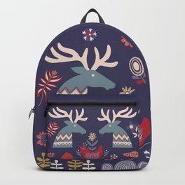 REINDEER AND FLOWERS Backpack