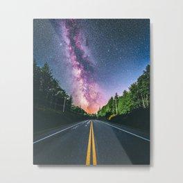 Milky Way at US Road (USA) Metal Print