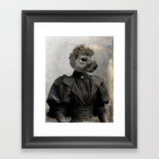Miss Squirrel Framed Art Print