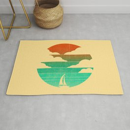 Go West (sail away in my boat) Rug