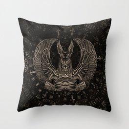 Anubis - Egyptian God Sepia Throw Pillow