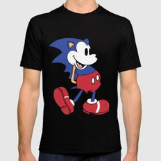 Mickey x Sonic Black Mens Fitted Tee SMALL