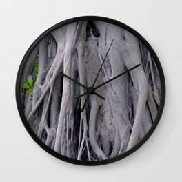 Banyan Tree Trunk Wall Clock