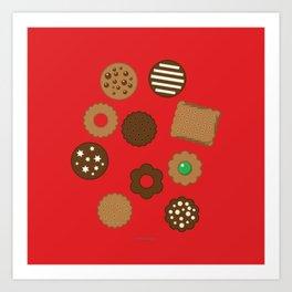 Assorted Biscuits Art Print