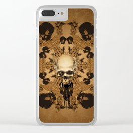 Awesome skull Clear iPhone Case