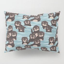 Otters dazzling the audience Pillow Sham