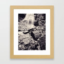 Water fall, Colorado Framed Art Print